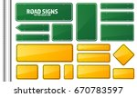 road traffic sign. blank board... | Shutterstock .eps vector #670783597