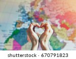 Hand In Heart Shape With Love...