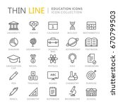 collection of education thin... | Shutterstock .eps vector #670799503