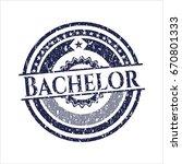 blue bachelor distress rubber... | Shutterstock .eps vector #670801333