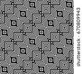 design seamless monochrome... | Shutterstock .eps vector #670809943