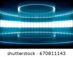 futuristic empty stage with... | Shutterstock . vector #670811143