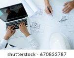image of engineer meeting for...   Shutterstock . vector #670833787