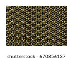 vector pattern with swirling... | Shutterstock .eps vector #670856137