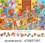 toy factory. find 15 objects in ...