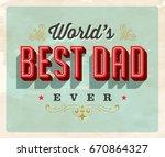 vintage style postcard   world...   Shutterstock .eps vector #670864327