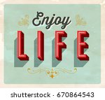 vintage style inspirational... | Shutterstock .eps vector #670864543