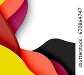 3d vector abstract background... | Shutterstock .eps vector #670864747