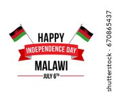 malawi independence day vector... | Shutterstock .eps vector #670865437