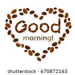 abstract background with coffee ... | Shutterstock .eps vector #670872163