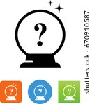 crystal ball with question icon | Shutterstock .eps vector #670910587