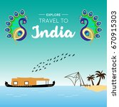 travel and tourism concept... | Shutterstock .eps vector #670915303