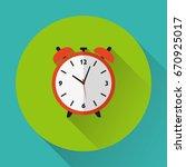 alarm clock icon. flat design....   Shutterstock .eps vector #670925017