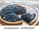 blueberry tart | Shutterstock . vector #670925257