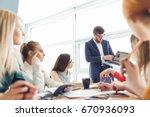 startup business team on... | Shutterstock . vector #670936093