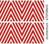 red chevron lines on white... | Shutterstock .eps vector #670938643