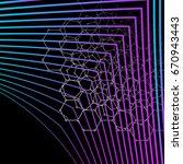 seamless geometric template... | Shutterstock .eps vector #670943443