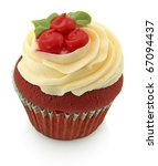 Red Velvet Cupcake Isolated On...
