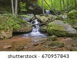 emory gap falls in frozen head... | Shutterstock . vector #670957843