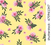 vintage seamless pattern with... | Shutterstock . vector #670961347