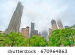 Skyscrapers Of Manhattan In Th...