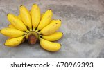 bananas on a vintage background | Shutterstock . vector #670969393