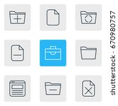 vector illustration of 9 office ...   Shutterstock .eps vector #670980757