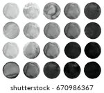 watercolor hand painted circle...   Shutterstock . vector #670986367