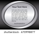 template black  silver and...   Shutterstock .eps vector #670998877