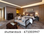 decoration and design in luxury ... | Shutterstock . vector #671003947