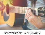 beautiful young women are... | Shutterstock . vector #671036017