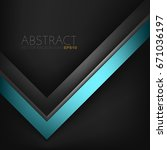 abstract vector green turquoise ... | Shutterstock .eps vector #671036197