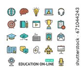 symbol of education online... | Shutterstock .eps vector #671044243