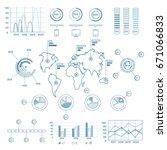 social media blue infographic