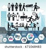 medical staff medical info... | Shutterstock .eps vector #671068483
