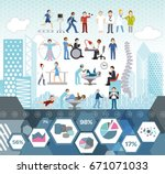 physiotherapy medical info... | Shutterstock .eps vector #671071033