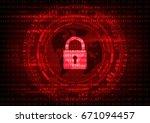 malware ransomware virus...   Shutterstock .eps vector #671094457