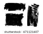 vector set of grunge artistic... | Shutterstock .eps vector #671121607