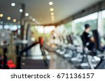 Blurred Fitness Gym Exercise...