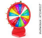 colorful wheel of luck or...   Shutterstock . vector #671140117