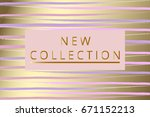 new collection fashion header.... | Shutterstock .eps vector #671152213