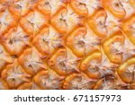 Pineapple Skin Texture Used Fo...