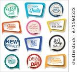 modern sale sticker collection | Shutterstock .eps vector #671160523