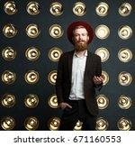 indoor shot of fashionable... | Shutterstock . vector #671160553