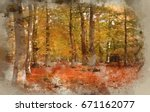 watercolour painting of... | Shutterstock . vector #671162077