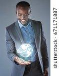 futuristic global business... | Shutterstock . vector #671171887