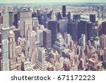 retro old film stylized aerial...   Shutterstock . vector #671172223