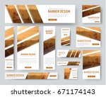 set of standard size banners.... | Shutterstock .eps vector #671174143