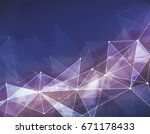 abstract digital polygonal... | Shutterstock . vector #671178433