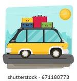 vector illustration of a retro... | Shutterstock .eps vector #671180773